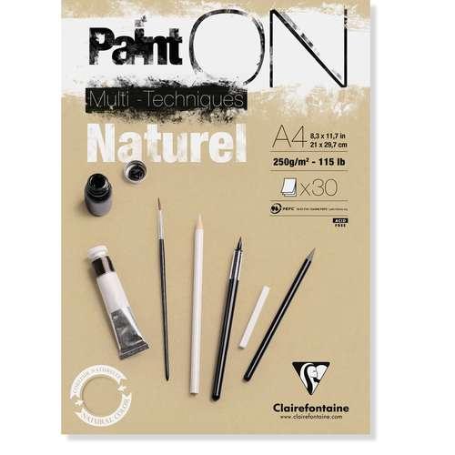 Clairefontaine   Paint ON Naturel - multi-papier